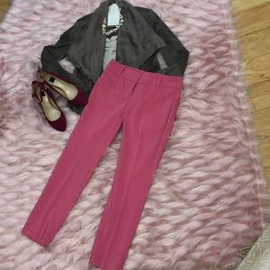 WHBM pink skinny ankle pants. Size 0.